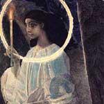 врубель: «ангел с кадилом и свечой»