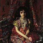 Врубель: «Девочка на фоне персидского ковра»